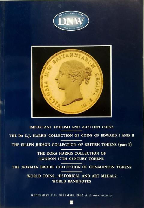 11 Dec, 2002.  DNW 56.  English, Scottish Coins and Tokens, etc.