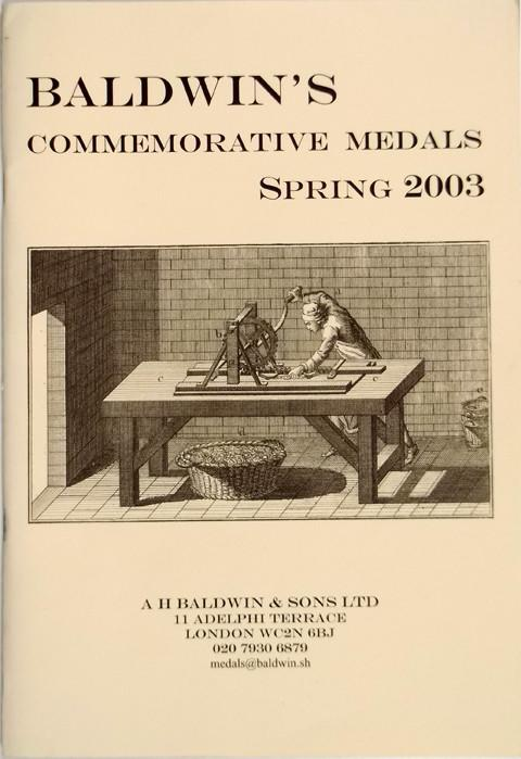 Spring 2003.  A H Baldwin & Sons.  Commemorative Medals.