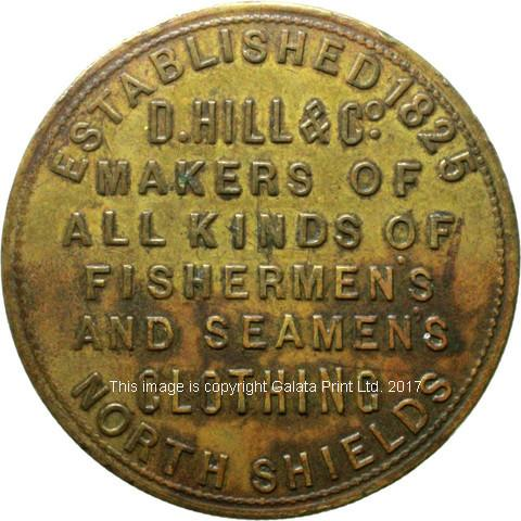 ADVERTISING TICKET North Shields.  Seamans clothing.