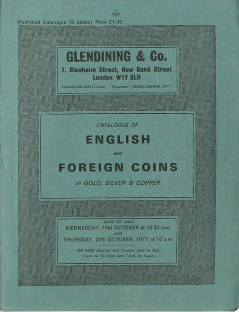 19 Oct, 1977  English and Foreign coins.