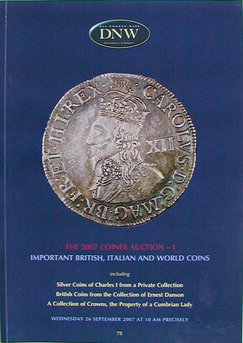 26 Sep, 2007.  DNW 75.  Coinex 2007 British, Italian and World Coins.