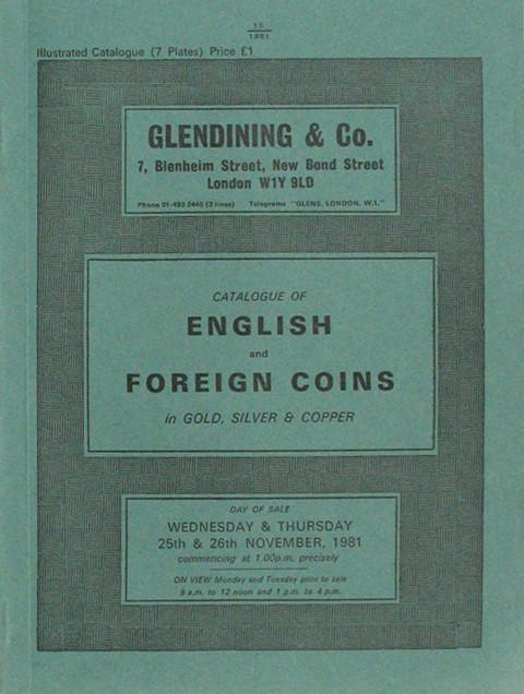 25 Nov, 1981  English and Foreign Coins.