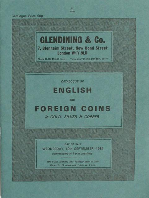 19 Sep, 1984  English and Foreign coins