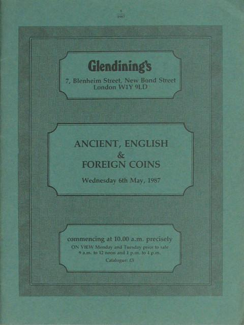 6 May, 1987  Ancient, English and Foreign coins.