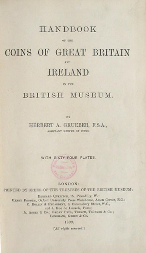 Handbook of the Coins of Great Britain and Ireland.