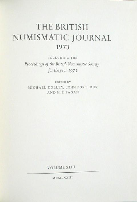 British Numismatic Journal 1973