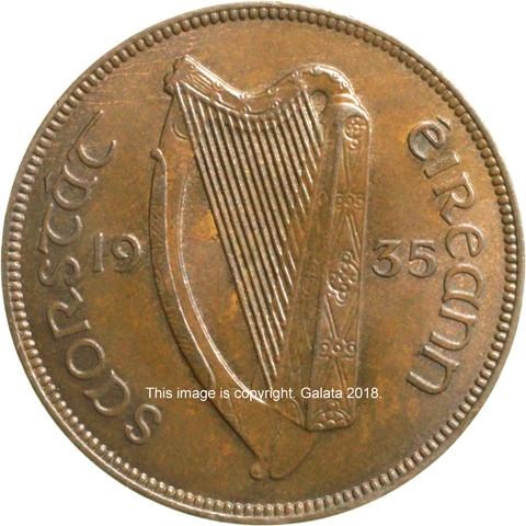 IRELAND, Free State. Penny 1935.
