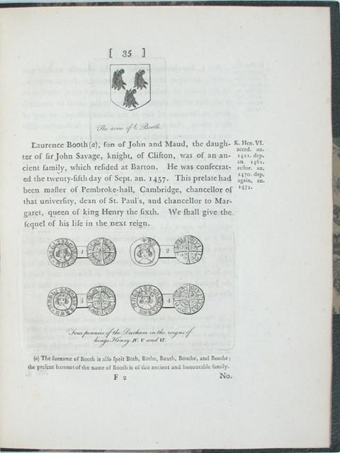 Two Dissertations upon the Mint and Coins of the Episcopal-Palatines of Durham.