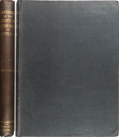 Proceedings of the Society of Antiquaries of Scotland 1917-18.