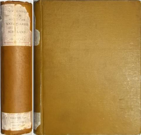 Proceedings of the Society of Antiquaries of Scotland 1906-1907.