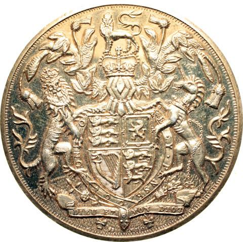 England, Medal.  Royal arms.