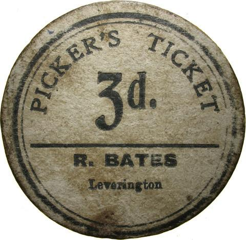 Farm token. R Bates.  Leverington.