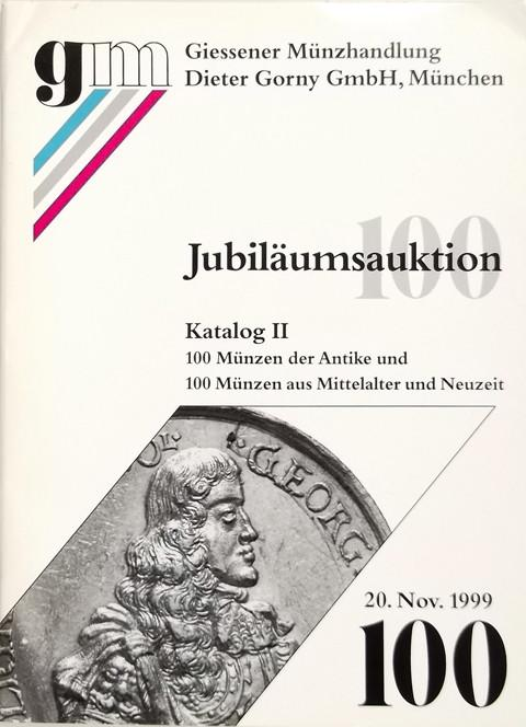 20 Nov 1999 Auktion 100.  Katalog 2.  Ancient, medieval and modern coins