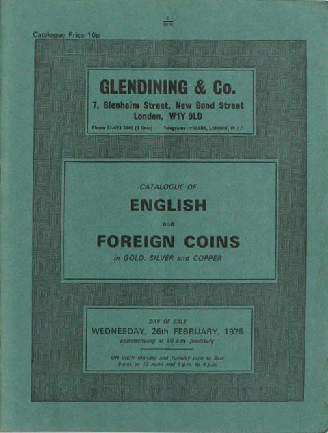 26 Feb, 1975  English and foreign coins.