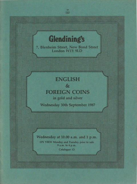 30 Sep, 1987  English and Foreign Coins.