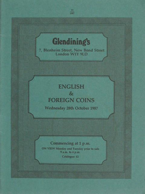 28 Oct, 1987  English and foreign coins.