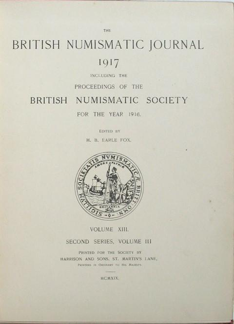 The British Numismatic Journal 1917.