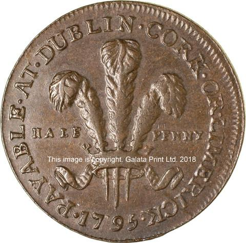 IRELAND. DUBLIN Halfpenny token, H S & Co, 1795.