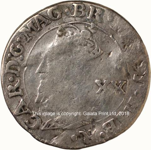 SCOTLAND, Charles I, 1625-49.  20 pence.  Falconer's 1st issue.