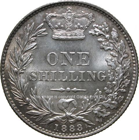 VICTORIA, 1837-1901. Young head, Shilling.