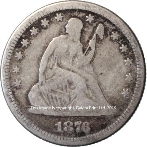 USA  25 cents 1876
