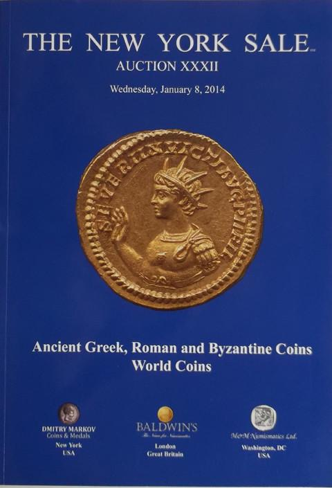 The New York Sale.  Auction XXXII. 8 Jan 2014. Greek, Roman, Byzantine, World coins.