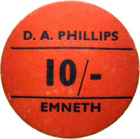 Farm token. D A Phillips, Emneth.