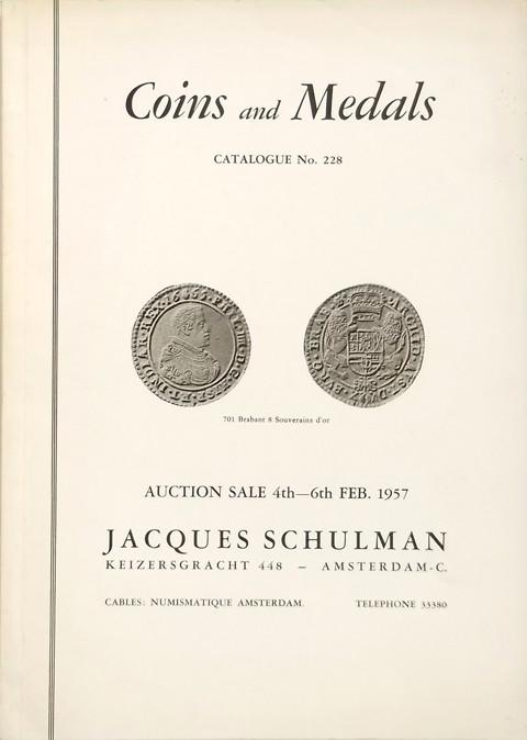 4 Feb. 1957  Jacques Schulman, Amsterdam.  Sale 228.
