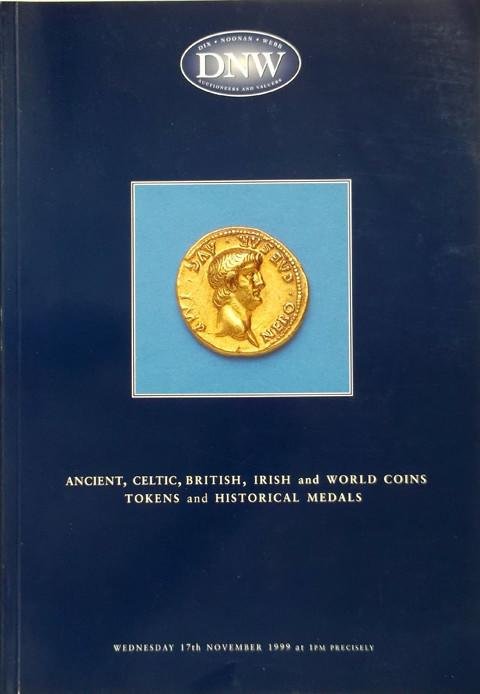 17 Nov 1999  DNW 44.   Ancient, Celtic, British, Irish and World coins, tokens and historial medals.