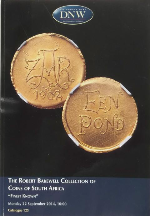 22 Sep 2014  DNW 125.   The Robert Bakewell collection of Coins of South Africa.