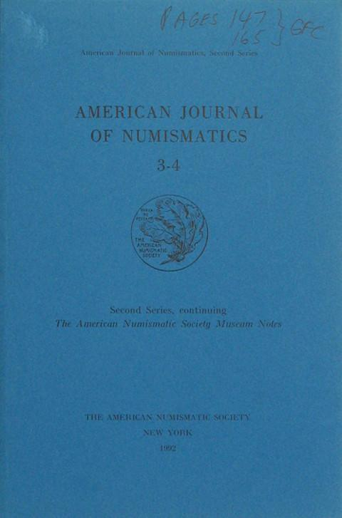American Journal of Numismatics. Second Series 3-4