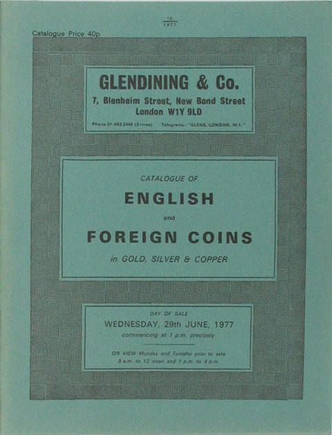 29 Jun, 1977  English and Foreign coins.