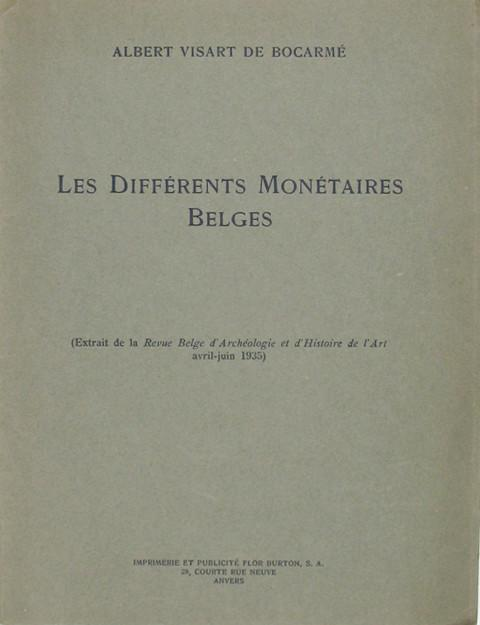 Les Differents Monetaires Belges