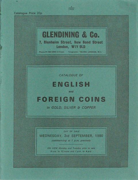 3 Sep, 1980  English and foreign coins.