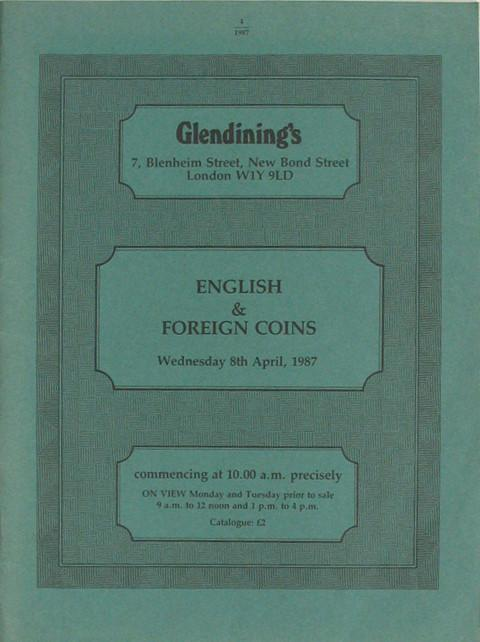 8 Apr, 1987  English and Foreign coins.