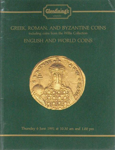 6 Jun, 1991 Greek, Roman and Byzantine, incl coins from the Willis Colln.,