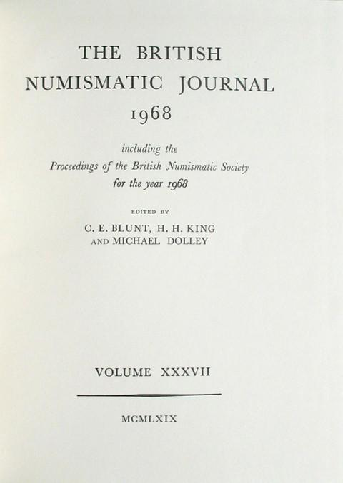 British Numismatic Journal 1968
