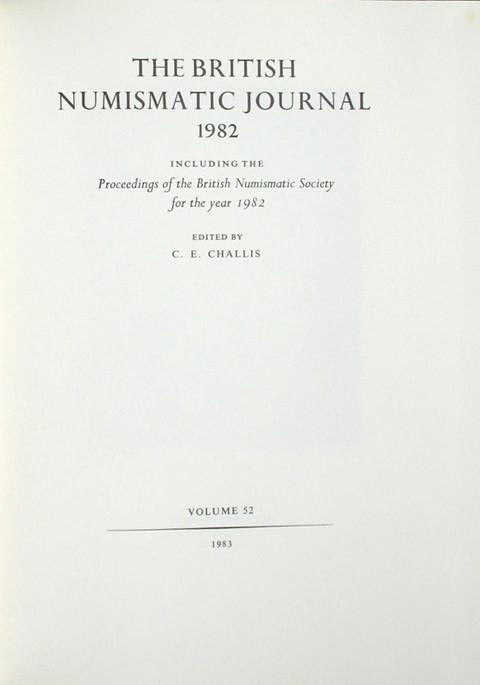 British Numismatic Journal 1982