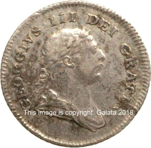 GEORGE III, 1760-1820.  Bank of Ireland 5 pence 1805.