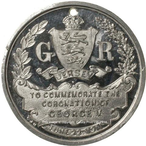 JERSEY, Coronation of George V. 1911. Commemorative medal.