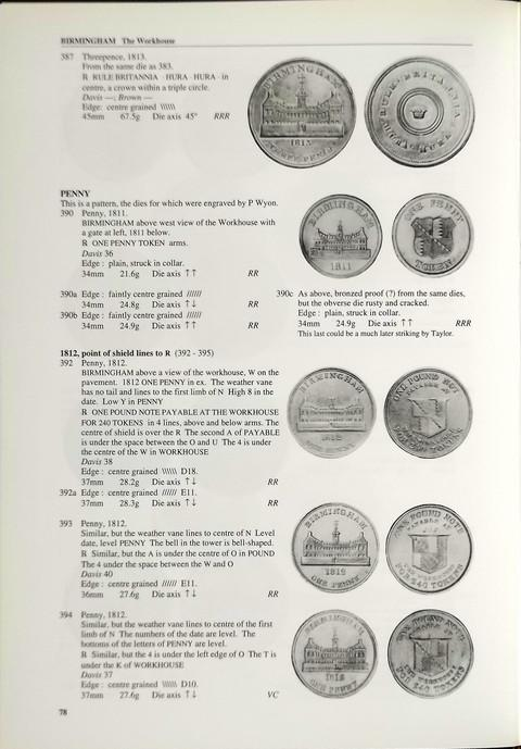 British Copper Tokens 1811 - 1820.