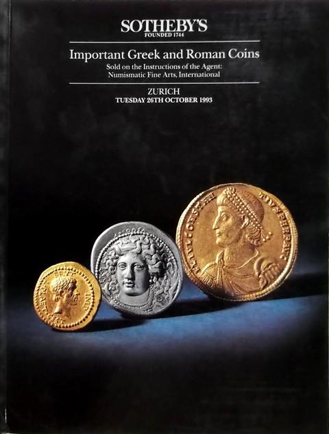 26 Oct, 1993.  Greek and Roman Coins