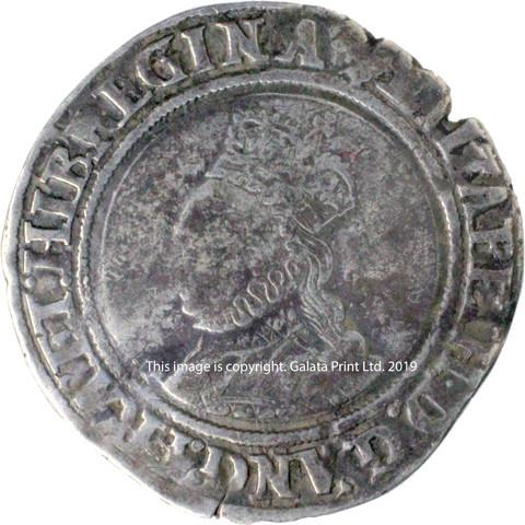 ELIZABETH I, 1558-1603. Second issue, shilling.