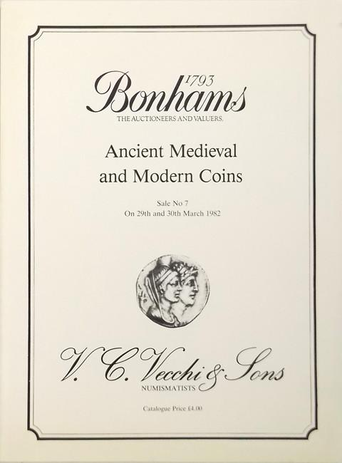 Bonhams - Vecchi Sale 7.  29 March, 1982