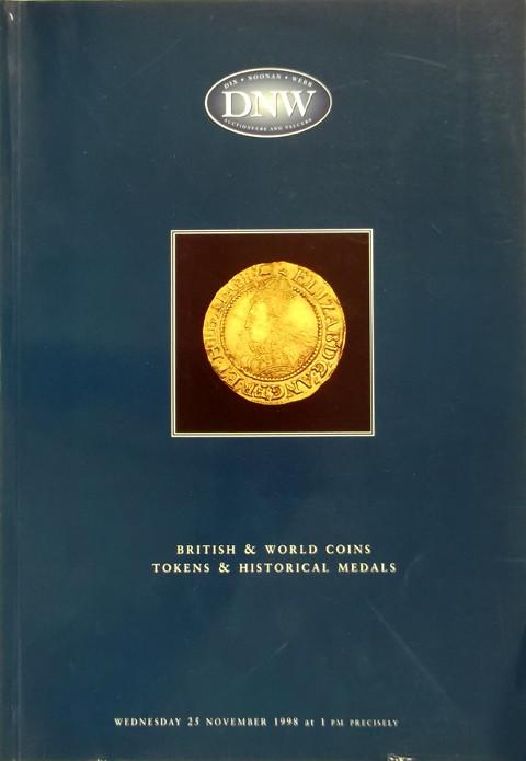 25 Nov 1998  DNW 38.   British and World coins, tokens and historical medals.
