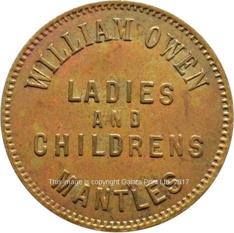 London, farthing token.  William Owen, llinen drapers, outfitters and silk mercers, Westbourne Grove..