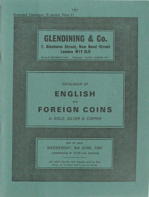 3 Jun, 1981  English and Foreign Coins.