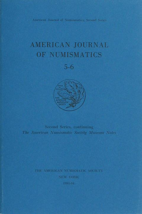 American Journal of Numismatics. Second Series, 5-6, 1995