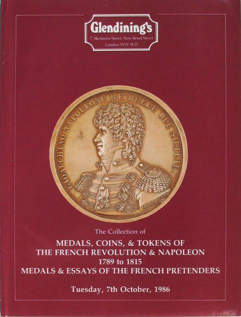 7 Oct, 1986 Medals, coins and tokens of the french revolution and Napoleon 1789-1815.