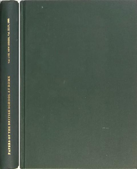 Papers of the British School at Rome.  Vol LVII 1989